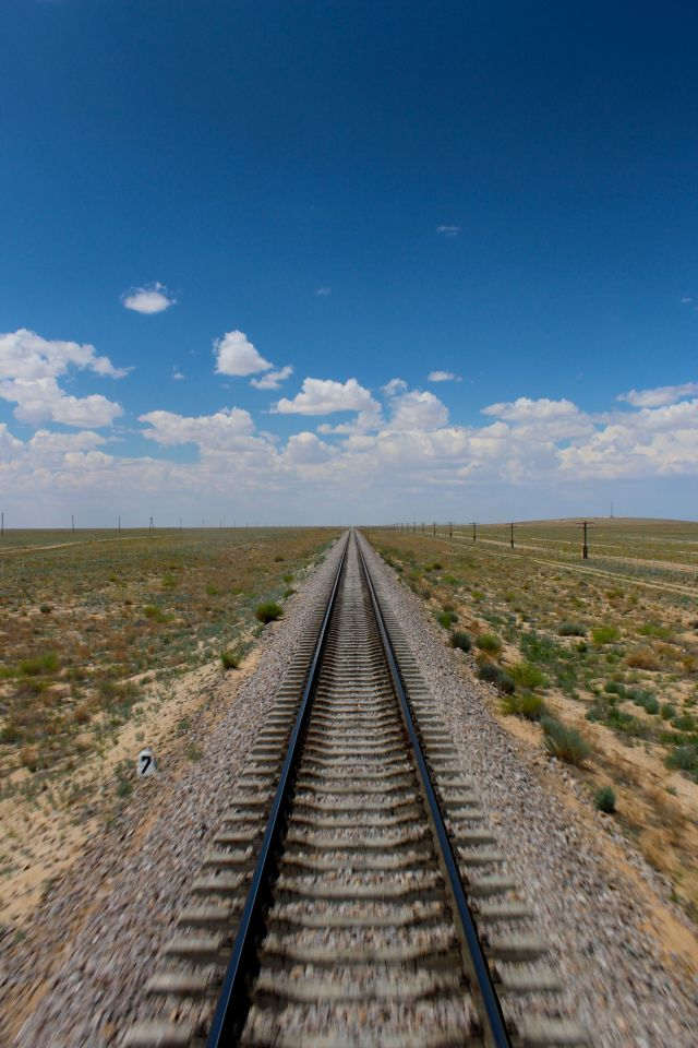 rails in the steppes