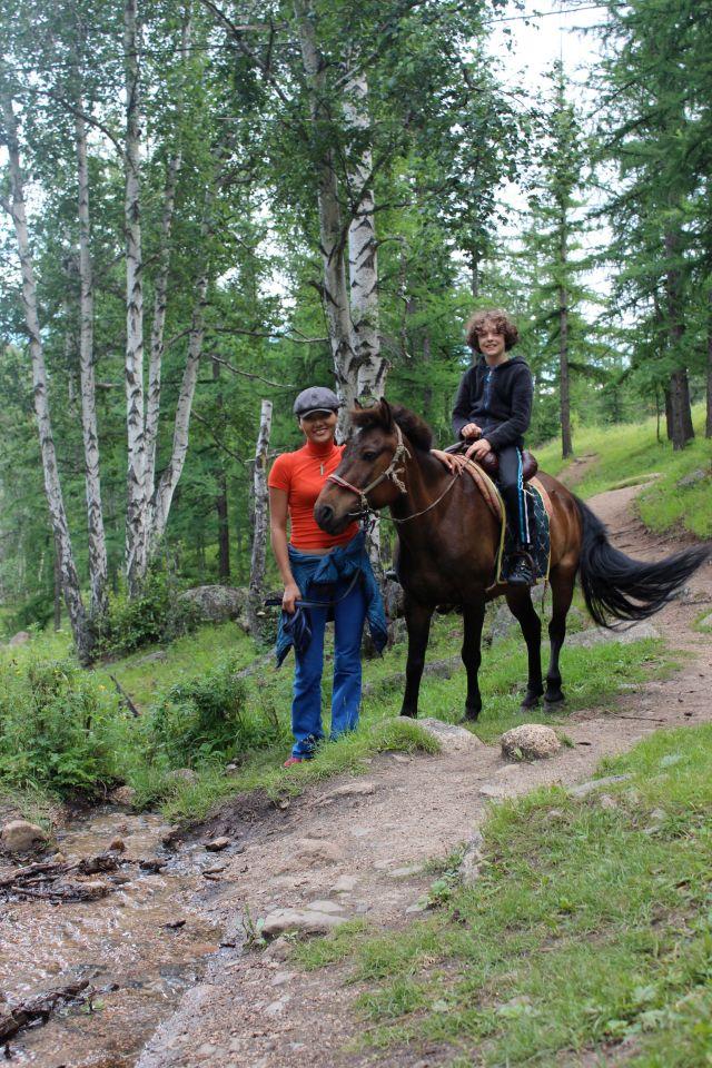 Yoel horse riding