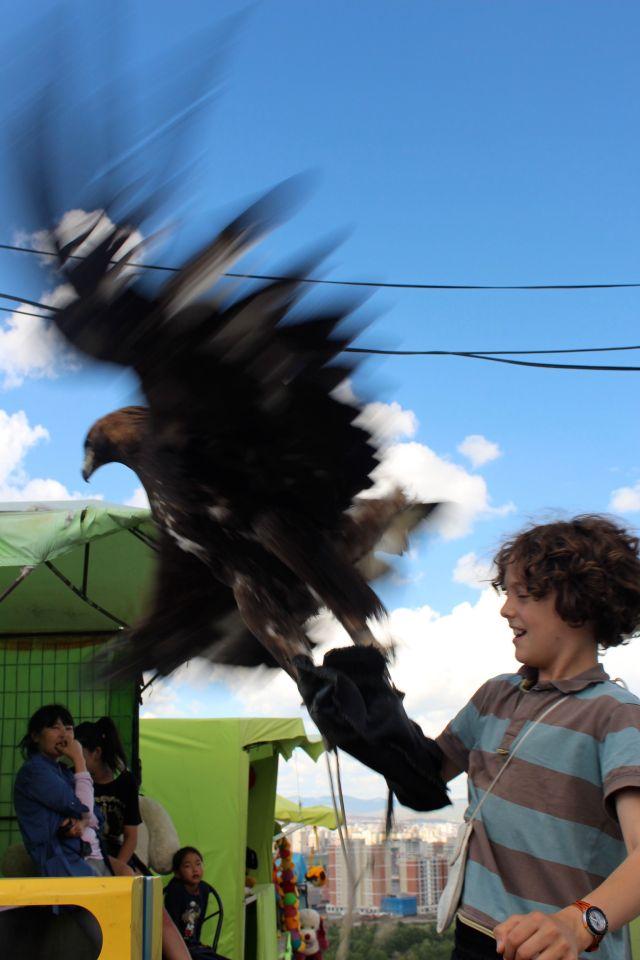 Yoel with eagle
