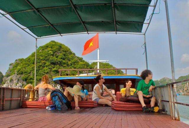 On Boat in Cat Ba